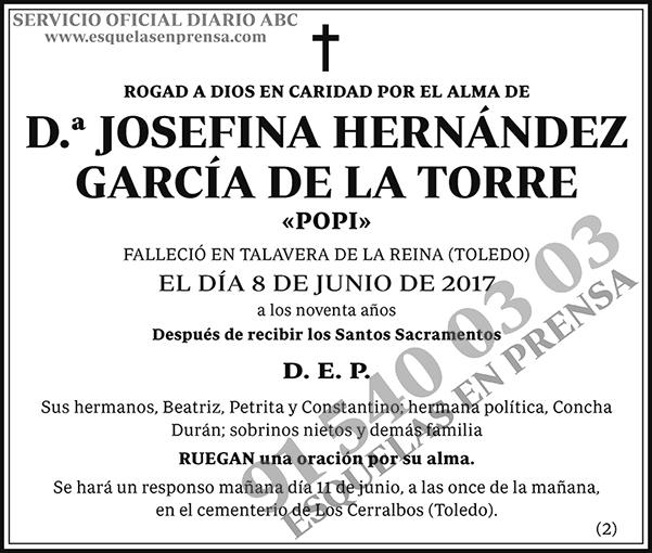 Josefina Hernández García de la Torre